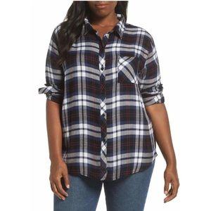 Rails Hunter Plaid Flannel Button Down Shirt